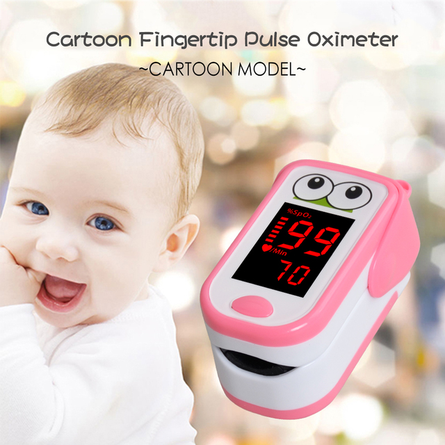 Baby  Finger Pulse Oximeter Neonatal Children kids fingertip Pulsioximetro Pediatric Oximetro De Dedo SpO2 PR Monitor 1-14 years 2