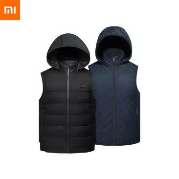 Nouveau Xiaomi Mijia Youpin PMA graphène gilet décontracté chauffant (hommes et femmes) 1 seconde lavable à chaud