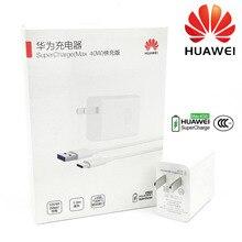 Huawei סופר מטען 40W מקורי 10V4A מהיר לדחוס מתאם USB כבל עבור p20 p30 פרו mate 30x20 פרו כבוד קסם 2 נובה 5 6