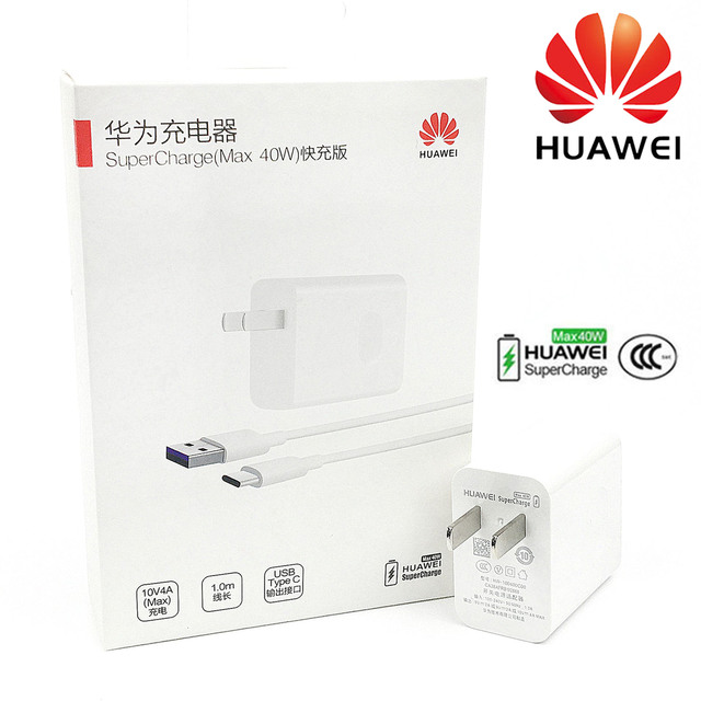 Huawei Super Charger 40W Original 10V4A Fast SuperCharge adapter USB Cable for p20 p30 pro mate 30x20 pro Honor Magic 2 Nova 5 6