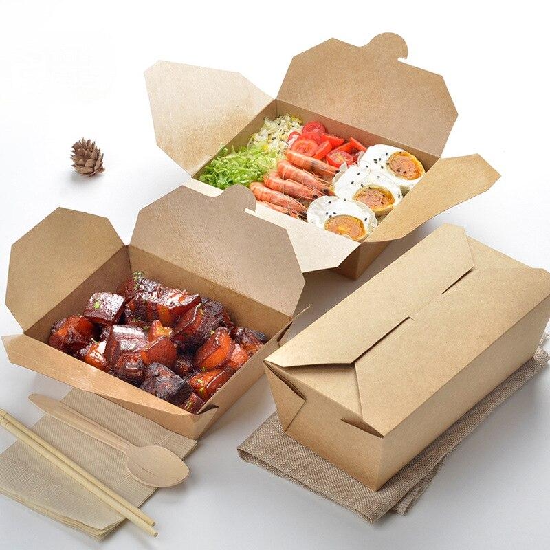 50pcs/lot Natural Brown Kraft Paper Box Gift Box Cajas De Carton Soap Packaging Box Wedding Favors Candy Fast Food Box Bags