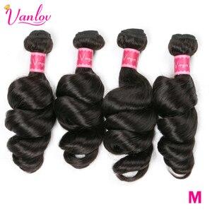 Vanlov 30 Inch Bundles Peruvian Loose Wav Hair Bundles 100% Human Hair Extensions 1/4Pcs/Lot Long Hair Remy Hair Weave Bundles