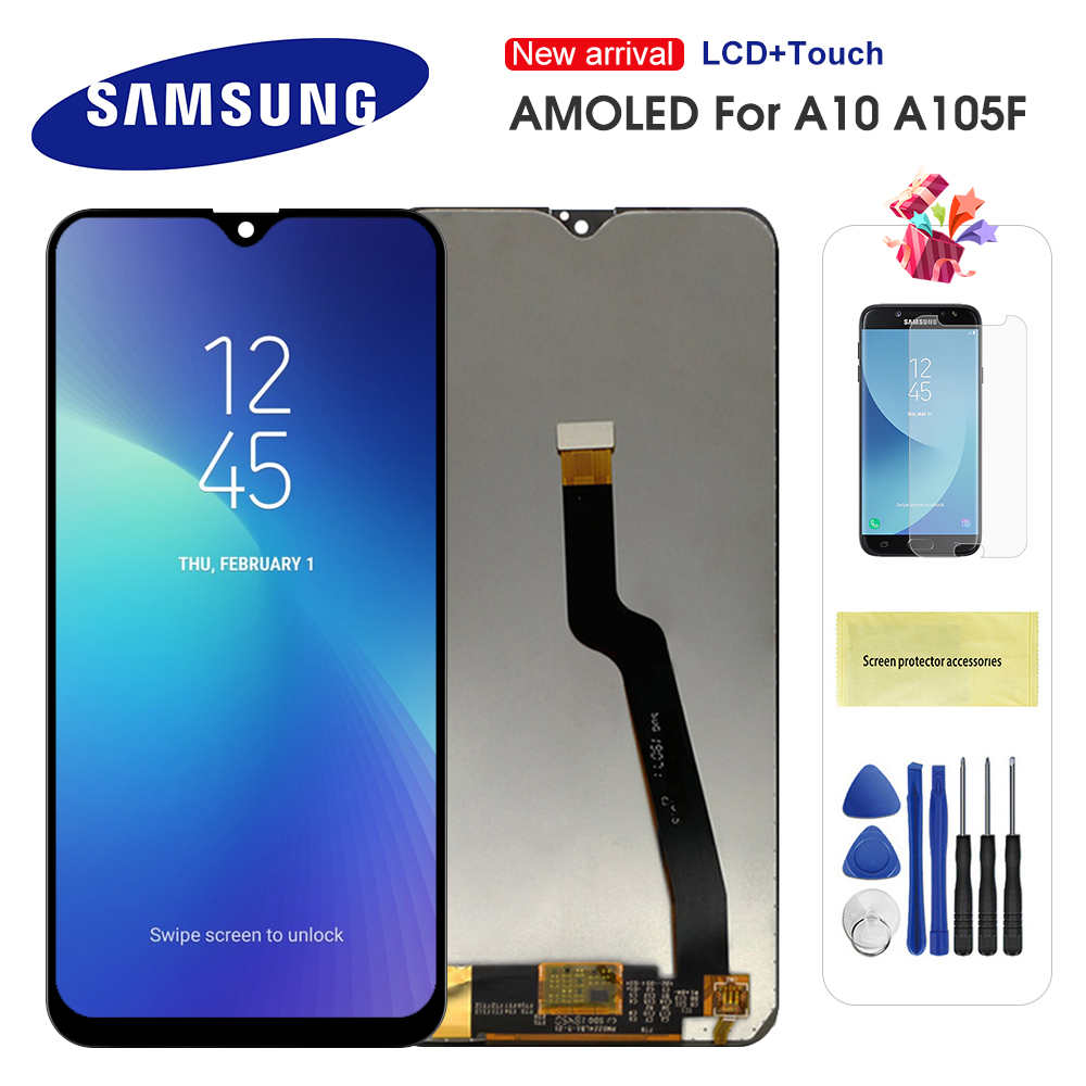 Original 6.2'' <font><b>LCD</b></font> For <font><b>Samsung</b></font> Galaxy A10 <font><b>M10</b></font> A105 A105F SM-A105F <font><b>LCD</b></font> Display Touch <font><b>Screen</b></font> Digitizer Assembly Replacement Amoled image