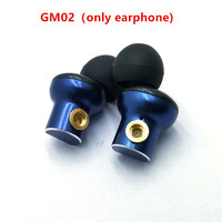 GM02  original In-Ear earphone 10mm metal earphone quality sound HIFI music ; DIY MMCX jack,8 core earphone cable