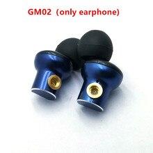 GM02 oryginalny w słuchawki douszne 10mm metalowe słuchawki jakości dźwięku HIFI muzyka; DIY MMCX jack,8 rdzeń kabel do słuchawek
