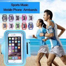 Armband For Size 4'' 4.5'' 4.7'' 5'' 5.5'' inch Sports Cell Phone Holder Case For iphone XR Huawei Samsung Xiaomi Phone On Hand(China)