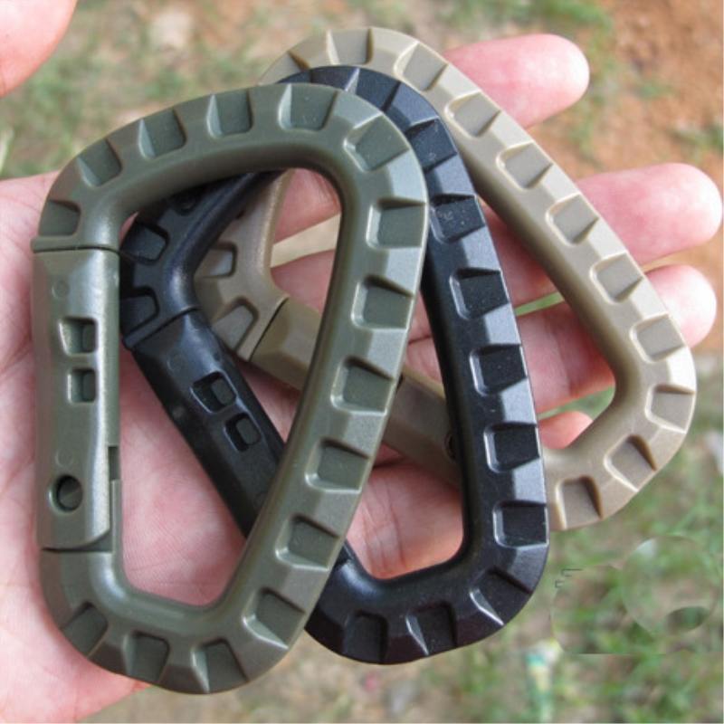 2Pcs/set Carabiner Climb Clasp Clip Hook Backpack Molle System D Buckle Military Outdoor Bag Camping Climbing Accessories