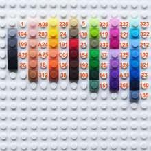 1000 шт/партия пластиковые строительные блоки 45 цветов