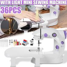 Multifunction LED Electric Sewing Machine with Foot Pedal Adjustable Speed Multifunction Quilting Household Sew Tool 100-240V