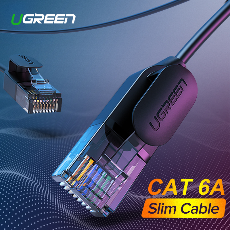 Ugreen Ethernet Cable Cat 6 A 10Gbps Network Cable 4 Twisted Pair Patch Cord Internet UTP Cat6 A Lan Cable Ethernet RJ45