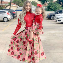 Свадебное платье для мамы и дочки одежда всей семьи на новый