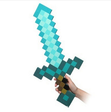 High Quality Balloon Kids sword Safe EVA Swords Perfect Minecrafted Diamond long Knife Action Party Toy Christmas Gifts