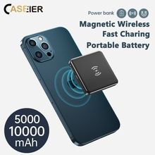 CASEIER 15W 10000mAh Magnetic Power Bank For iPhone 12 Pro Max Mini Portable External Battery Powerbank 5000mAh Bank For Phone