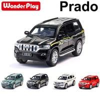 Wonderplay Super Quality 1:32 TOYOTA PRADO Alloy Metal Car Model Sound Toys Car With Pull Back Open Door Model Car