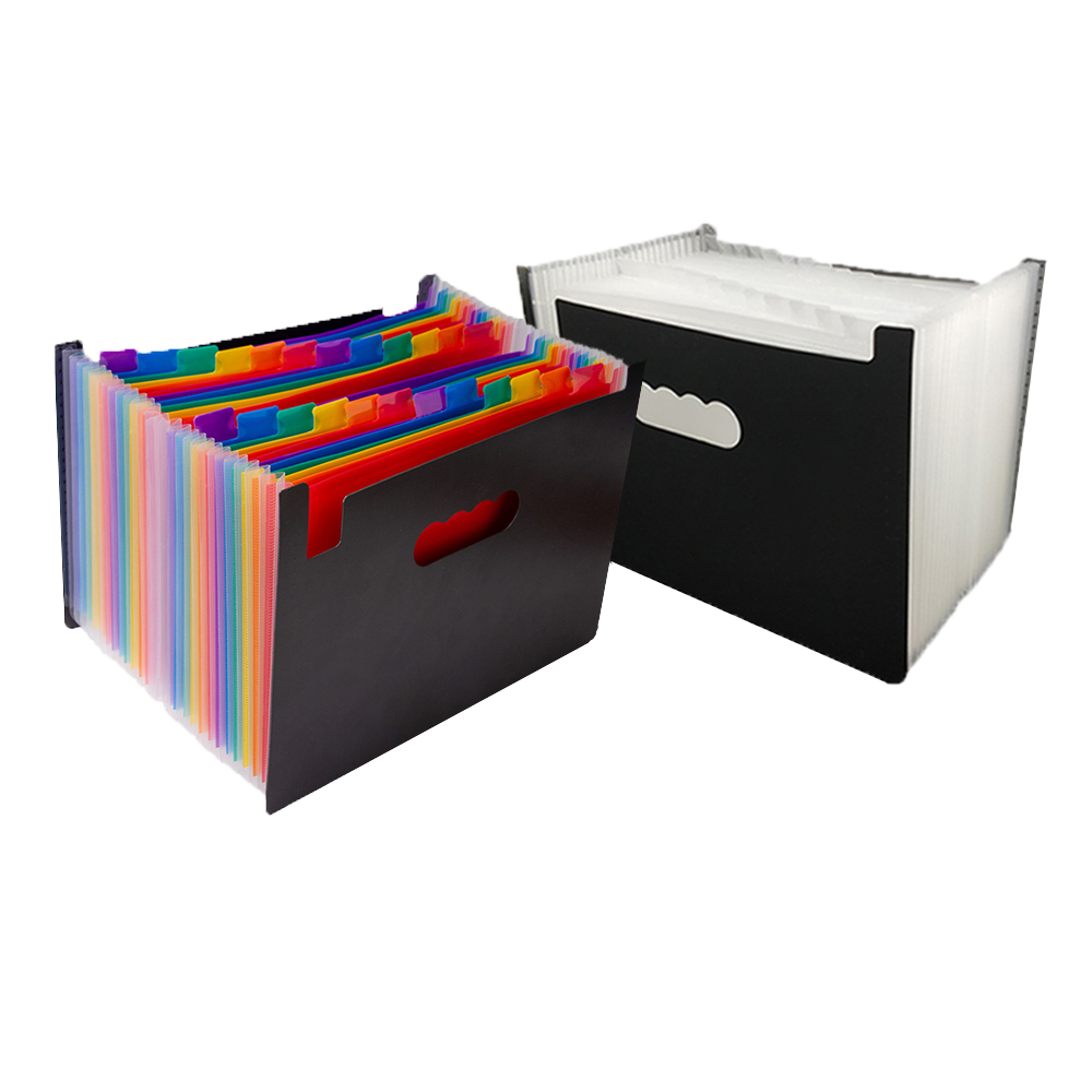 13/24 Pockets Multicolored Expanding Files Folder  Portable A4 Expandable Accordion File Organizer With High Capacity Plas