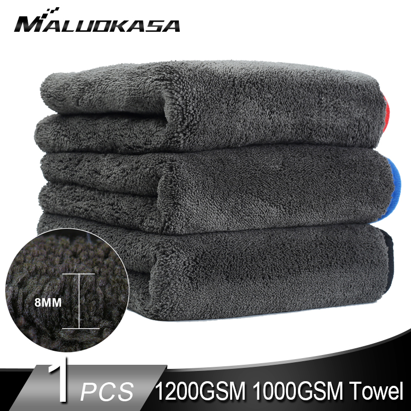 1200GSM 1000GSM Car Detailing Wash Towel Super Microfiber Towel 1200 Gsm Detailing Car Products Auto Washing Cloth Wax Polishing