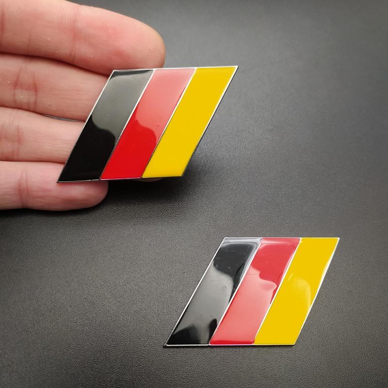 2Pcs/Pair 3D Metal German Flag Car Body Side Fender Rear Trunk Emblem Badge for vw Volkswagen Audi Bmw Mercedes Benz Porsche kia
