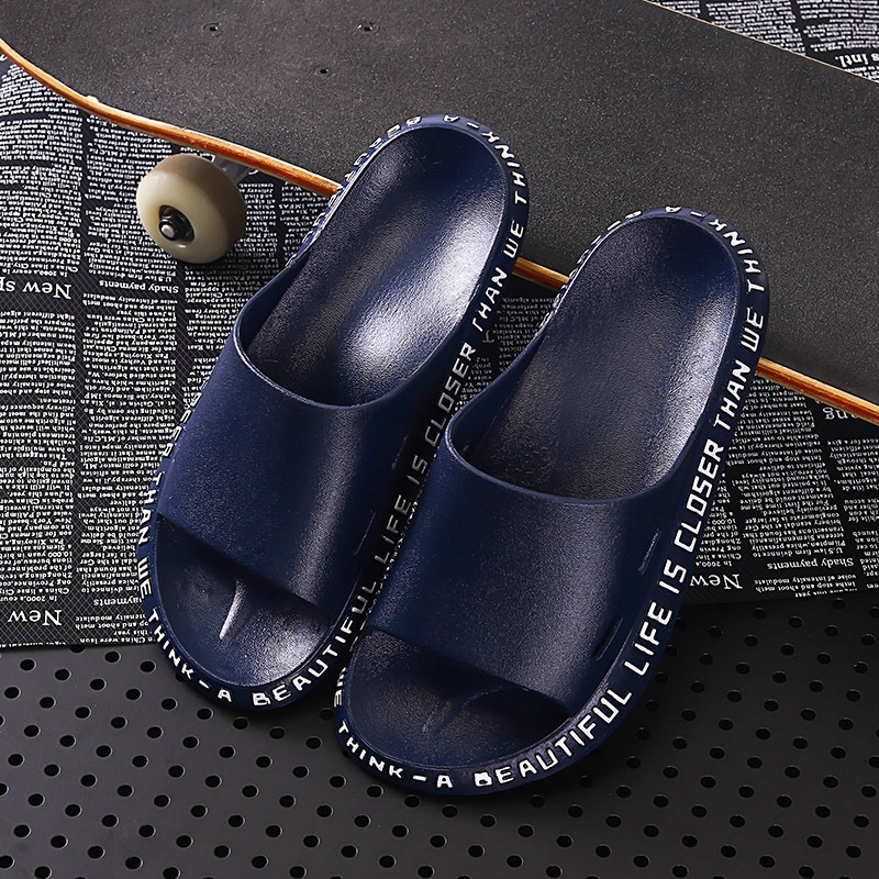 2019 Slipper Japanese Style Household Indoor Bathroom Anti-slip Bath Couples PVC Network Red A- Line Cool Of Men And Women
