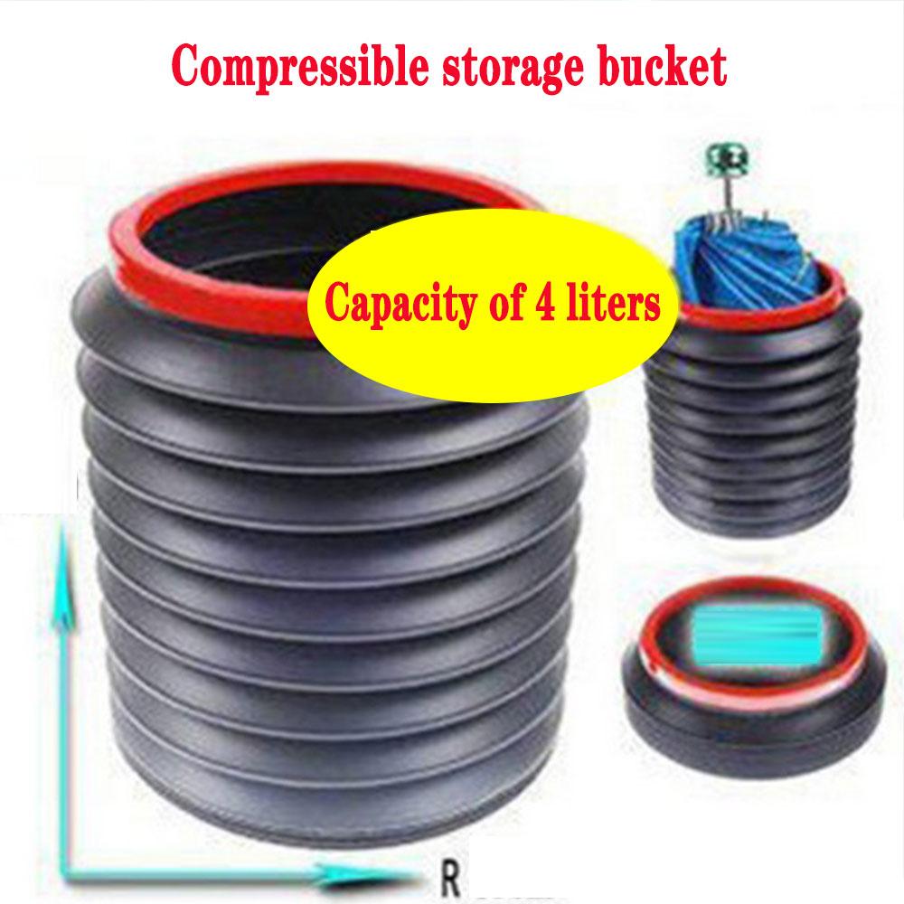 Magic Bucket Folding Telescopic Trash Bin Storage Bucket Car Built-in Tube Car Multi-function Magic Cylinder 4L Accessories