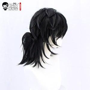Image 5 - HSIU Tomioka Giyuu 애니메이션 코스프레 의상 가발 악마 슬레이어: Kimetsu no Yaiba 기모노 유니폼 Cloak Halloween Black Synthetic Hair