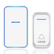 Wireless Doorbell Chime House-Phone Calling-Button CACAZI Remote Waterproof 300m Smart
