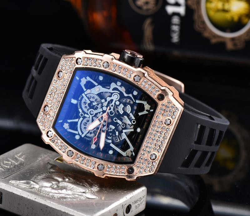 Gift Diamond Dz Staal Watc Man Horloge Rlo Dz Auto Datum Week Display Lichtgevende Diver Horloges Rvs Pols Man mannelijke Klok
