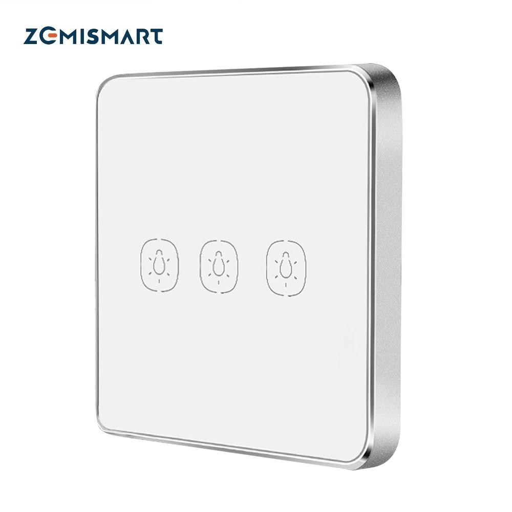 Zemismart Wireless Switch Work with Tuya Hub One Two Three Gangs Touch Switches Sticker