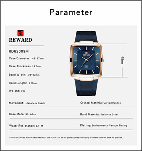 Image 5 - New Fashion Square Men Wristwatch Ultra thin Luminous Date Men WristWatch Top Brand Luxury Waterproof Male Watch Dropshipping