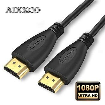 AIXXCO 0.5M 1.5M 1M 2M 3M 5M 10M 15M Gold Plated HDMI Cable 1.4 1080p 3D video cables for HDTV Splitter Switcher