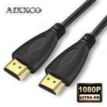 AIXXCO 0.5M 1.5M 1M 2M 3M 5M 10M 15M Banhado A Ouro Cabo HDMI 1.4 1080p 3D cabos de vídeo para HDTV Splitter Switcher