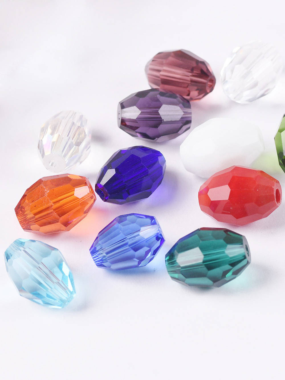 Loose-Spacer-Beads Crafts Crystal Glass Oval-Shape Jewelry-Making Faceted Wholesale 10x8mm