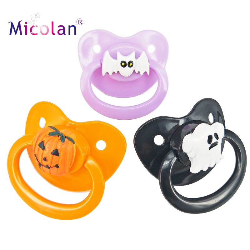 New ABDL Halloween Adult Sized Pacifier Multicolor Silicone Cute Adult Baby Pacifier Dummy For DDLG