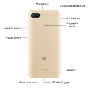 "Image 4 - המקורי גלובלי גרסת Xiaomi Redmi 6 4GB RAM 64GB ROM 5.45 ""HD 18:9 Helio P22 אוקטה Core4G LTE AI 12.0MP פנים מזהה חכם טלפון"
