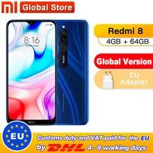 Globale Version Xiaomi Redmi 8 4GB 64GB Octa-core Snapdragon 439 prozessor 12 MP dual kamera Smartphone 5000 mAh Redmi 8