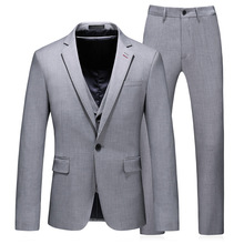 Hot Selling Light Grey Morning Style Men Tailcoat Groom Tuxedos Best Man Groomsmen Wedding Suits Bridegroom 3 Piece