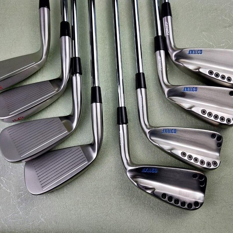 Клюшки для гольфа 0311xf Серебристые красные и синие клюшки для гольфа 8 штук для гольфа кованые железные клюшки для гольфа 3 9W R S крышка для гол