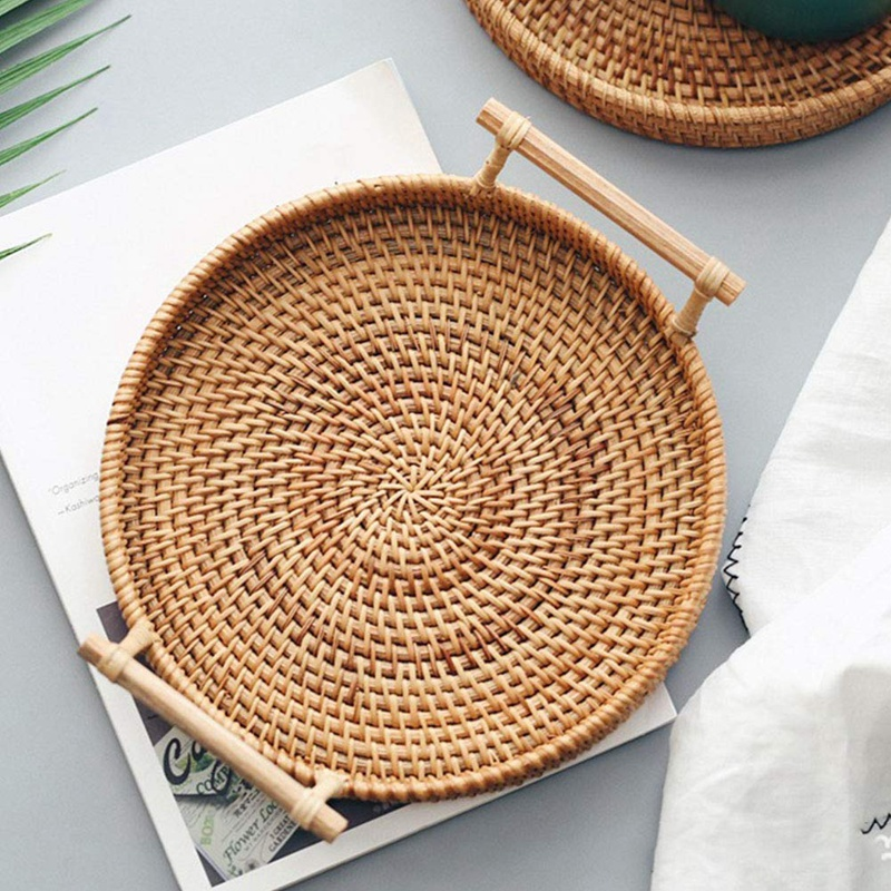 decorative baskets dried flowers small baskets country basket.htm rattan storage tray  round basket with handle  hand woven  rattan  rattan storage tray  round basket with