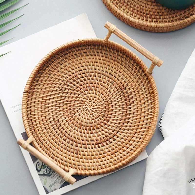 rattan basket small from storage box.htm rattan storage tray  round basket with handle  hand woven  rattan  rattan storage tray  round basket with