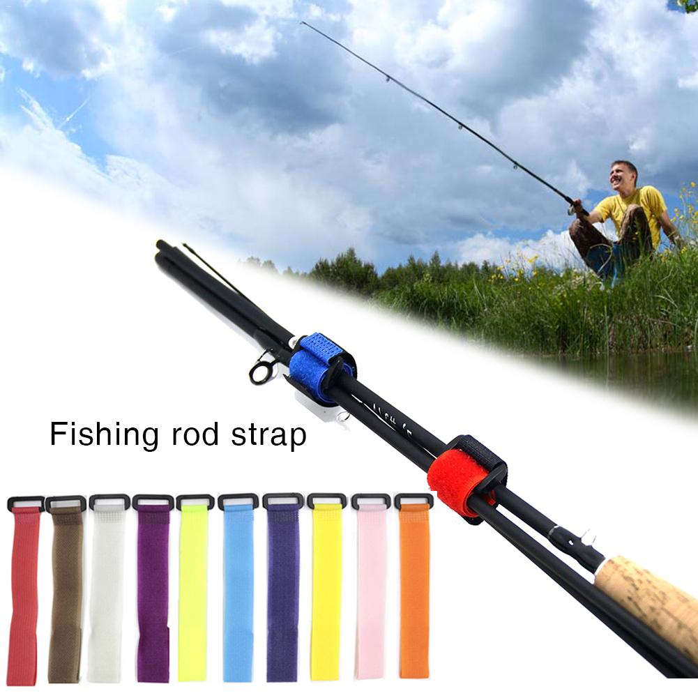 10PCS Nylon Bundle Belt Fishing Tackle Strap Luya Tied Strap Magic Tape Sticks Cable Tie Model Straps Wire Clasp Band Accessory