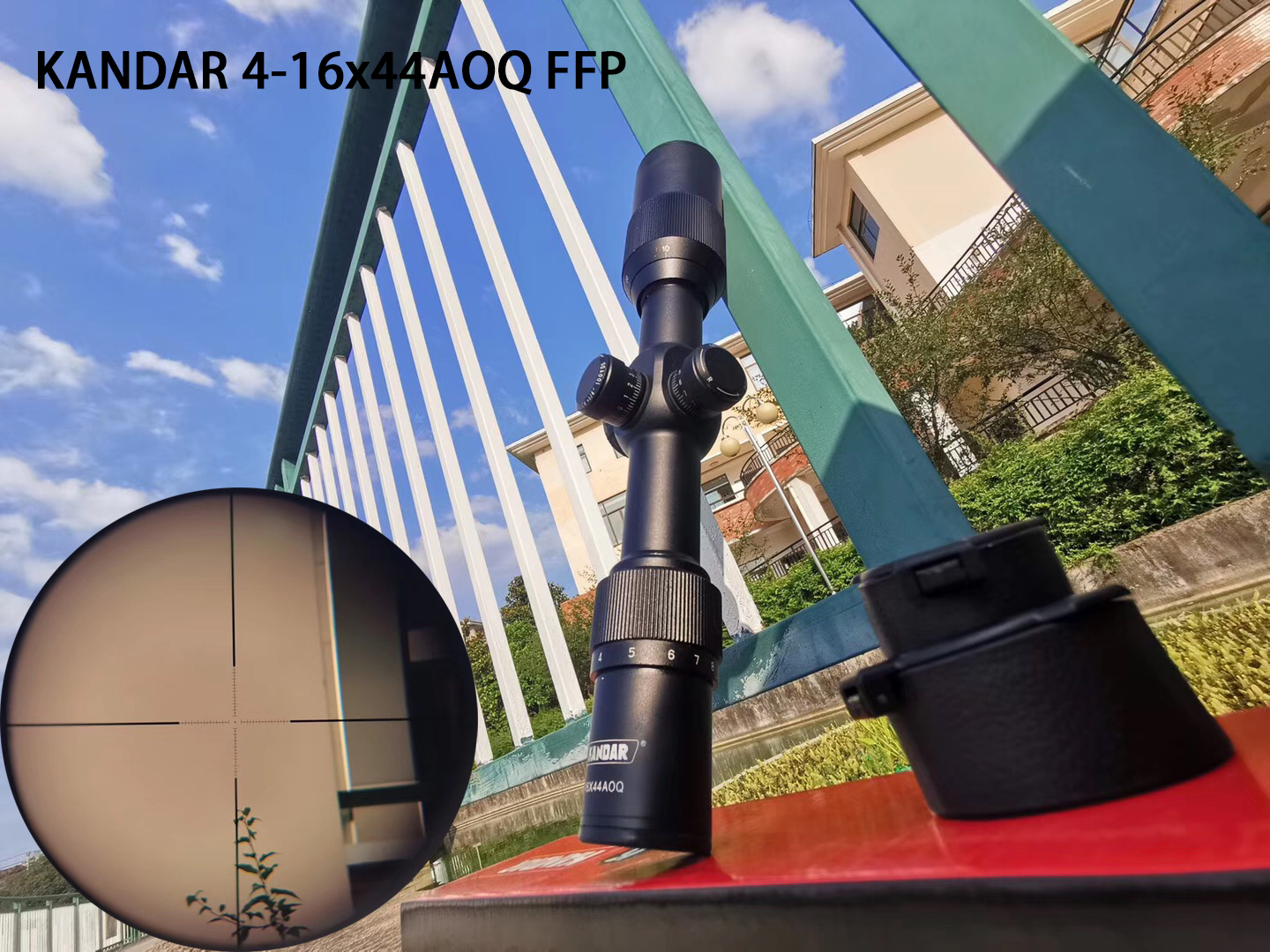 Hunting Riflescope 4-16x44 FFP Scope With Red Dot First Focal Plane Optics With 11 Or 20MM Rail Black Rifle Scope