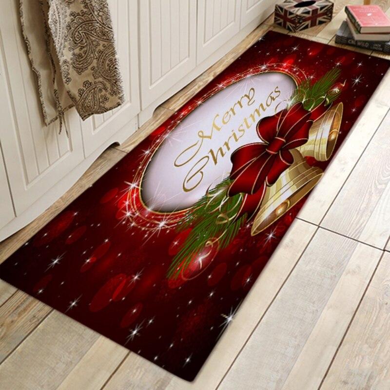 Merry Christmas Area Rug Letter Printed Carpet Anti Slip Floor Mat For Kitchen Bedroom Living Dorm Room New Year Decoration|Rug|Home & Garden - title=