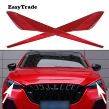 Autocollant pour couvercle et contour des yeux pour voiture, pour Mazda 3 Axela, accessoires extérieurs, pour phare et sourcils