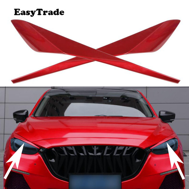 Kiểu Dáng Xe Đèn Pha Lông Mày Mi Mắt Viền Mắt Nắp Bao Da Miếng Dán Decal Dán Viền Dành Cho Xe Mazda 3 Axela Phụ Kiện Bên Ngoài