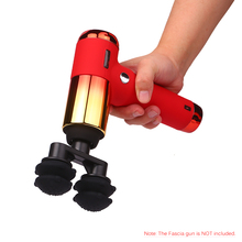 New style fascia gun massage head, double vibration head cushion head general accessories for muscle relaxer
