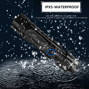 Image 5 - ZK20 Dropshipping XHP90 LED Flashlight Telescopic Zoom USB Charging Tactical 26650 Hunting Flashlights with Bottom Attack Cone