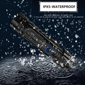 Image 5 - ZK20 Dropshipping XHP90 Led Zaklamp Telescopische Zoom Usb Opladen Tactische 26650 Jacht Zaklampen Met Bodem Aanval Kegel