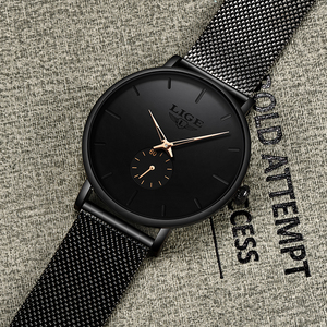 Image 5 - Women Watch LIGE Top Luxury Brand Steel Mesh Waterproof Ladies Watches Flower Quartz Female Wristwatch Charming Girl Clock 2020