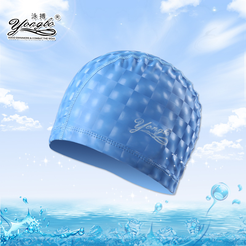 Swimming Cap Genuine Product Waterproof Earmuff Cat's Eye Pu Coating Cap for Both Men And Women Long Hair Large Size Swimming Ca