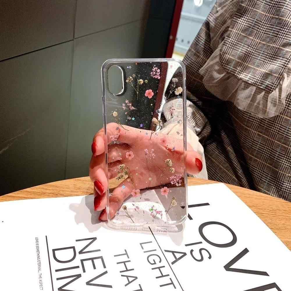 Casa โทรศัพท์อุปกรณ์เสริมสำหรับ iPhone 11 PRO MAX กรณี 6 S 7 8plus iPhone S XR x XS โทรศัพท์กรณีดอกไม้วางกาว