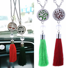 Tree Of Life Car Air Freshener Perfume Diffuser Air Conditioning Ventilation Fringe Pendant Rearview Mirror Hanging Accessories